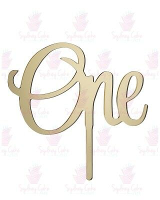 AU15 • Buy One Acrylic Cake Topper - Mirror Gold, Silver, Red, Rose Gold, Pink-1st Birthday
