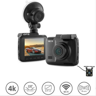 AU113.34 • Buy Wifi Car Dvr Dual Cameras For Front And Rear Video Recorder 4K Vehicle Dash Cam