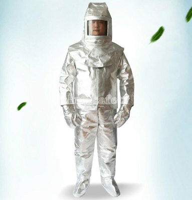 Men's Aluminized 500°C Heat Insulation Suit Thermal Radiation Protect Work Wear • 124.99$