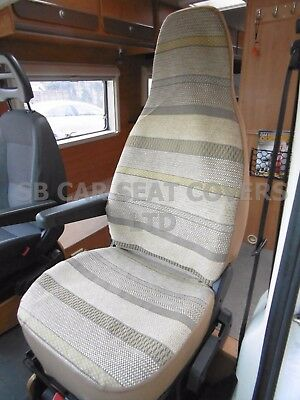 I - TO FIT FIAT DUCATO 2003 MOTORHOME SEAT COVERS, BALMORAL STRIPE MH-058 • 79.99£