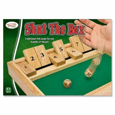 £8.99 • Buy Traditional Wooden Shut The Box Family Fun Kids Adult Play Gift Pub English Game