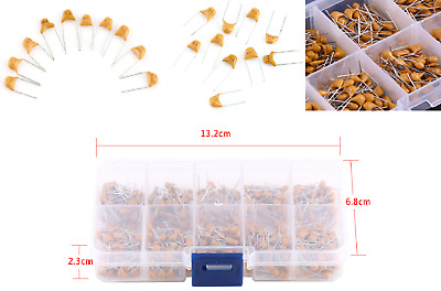 $10.90 • Buy 0.1uF~10uF  50V Ceramic Capacitor Assorted Kit 500Pcs 10 Value