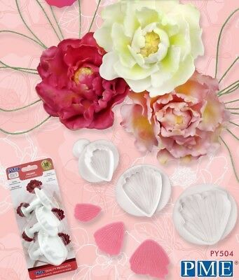 PME Peony Plunger Cutters Set Of 3 For Sugarcraft Flowers NEXT DAY DESPATCH • 11.95£