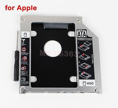 $9.25 • Buy New Design 2nd HD SSD Hard Drive Optical Bay Caddy For Apple Macbook Pro Unibody