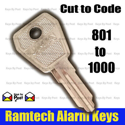 Alarm Panel Key - Fire Isolation Switch - Lorlin  Numbers 801 To 1000 Fast Post! • 2.65£