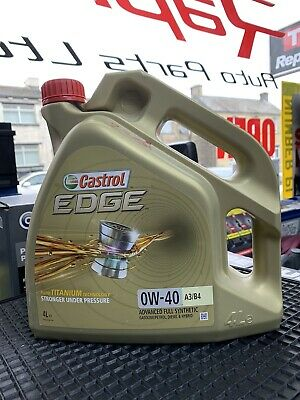 Castrol Edge TITANIUM 0W-40 FST A3/B4 Synthetic Engine Oil 0W40 4 Litres 4L • 200£