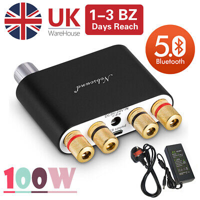 Nobsound Mini Bluetooth Digital Power Amplifier HiFi Bass Home Stereo Audio Amp • 28.99£