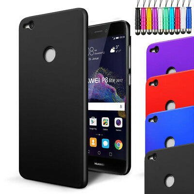 For Huawei P8 Lite 2017 - Armour Hard Shell Case Back Cover + Screen + Stylus • 2.96£