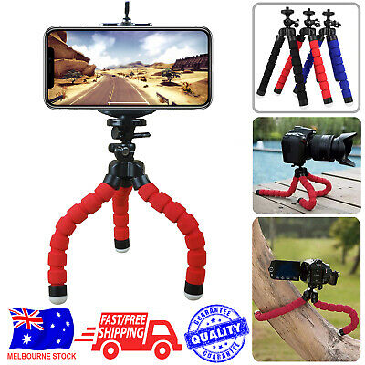 AU6.99 • Buy Camera Phone Holder Flexible Octopus Mini Tripod Stand For IPhone And Others