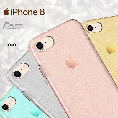 AU5.99 • Buy Glitter Shining Bling TPU Jelly Gel Case Cover For IPhone 8 / IPhone 8 Plus