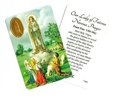 OUR LADY OF FATIMA Prayer Card - Credit Card Size • 1.65£
