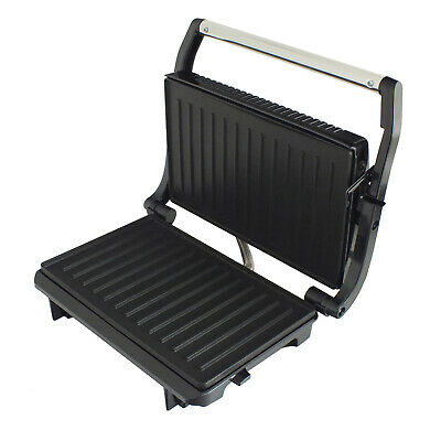 Compact 2 Slice Electric Panini Press Grill 700w Non Stick + Floating Hinge • 21.99£