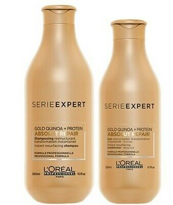 Loreal Absolut Repair Gold Shampoo And Conditioner For Dry Damaged Hair Set • 29.98£