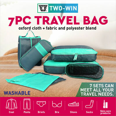 AU22.49 • Buy 7  Travel Luggage Organiser Cube Clothes Storage Pouch Suitcase Packing Bags