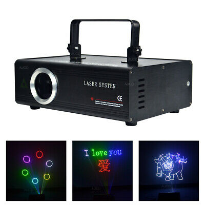 AU416.30 • Buy 1W Full RGB Laser ILDA SD Card Animation Edit DMX DJ Show Projector Stage Lights