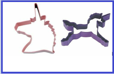 AU7.45 • Buy New Unicorn  Pink And Purple Polycoated Cookie Cutter  Set (1)