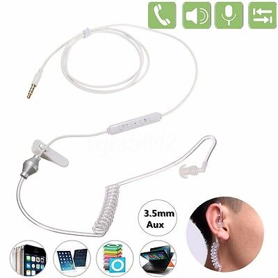 3.5mm Mono Bodyguard Headset Security Headphone Anti-radiation Earphone W/ Mic • 1.89£
