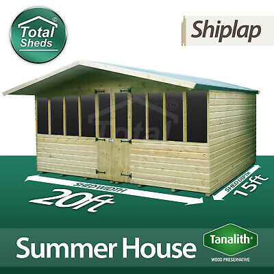 £5256.31 • Buy 20 X 15 SUPREME SUMMER HOUSE LOG CABIN WOODEN SHED TOP QUALITY GRADED TIMBER