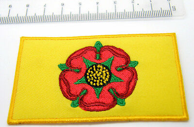 £2.49 • Buy Lancashire Red Rose Lancs Flag Patch Badge Sew Or Iron Type Quality