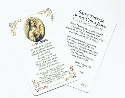 £1.65 • Buy ST SAINT THERESE / THERESA OF LISIEUX Prayer Card - Credit Card Size