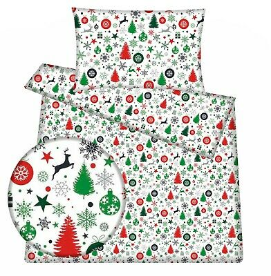 Christmas Nordic Baby Toddler Cot /cot Bed Bedding Set  Duvet Cover Pillowcase • 14.98£