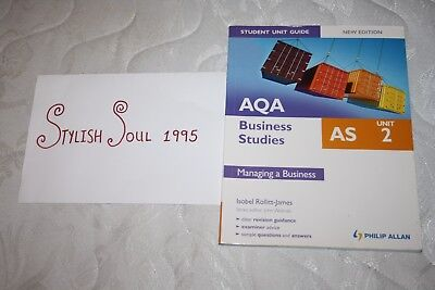 AQA AS Business Studies: Managing A Business: Unit 2 By Isobel Rolitt James... • 4.79£
