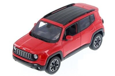 $18.95 • Buy Maisto 1:24 Scale 2017 Red JEEP Renegade Jeep SUV Vehicles Car Model Toy Gift