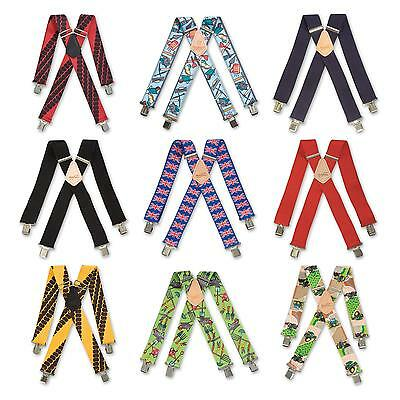 Mens Novelty Work Trouser Braces Metal Clips Wide 11 Patterns To Choose From • 10.92£