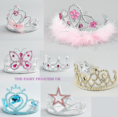 Fairy Princess Queen Tiara Crown Silver Gold Pink Dress Up Accessory Party  • 5.99£