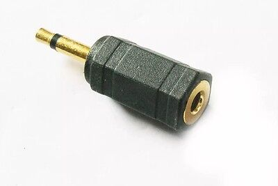 Gold 3.5mm Stereo To Mono Jack Plug Male To Socket Adaptor Converter Connector • 1.75£