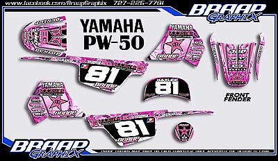 $ CDN72.57 • Buy Yamaha PW-50 Pink Rockstar Graphics Decal Kit