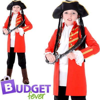 Buccaneer Of The Seas Boys Fancy Dress Pirate Caribbean Childrens Kids Costume • 14.99£