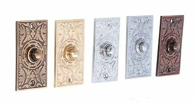 "Anderson"" Rectangle Pattern Bell Push Vintage Door Classic • 44.99£"