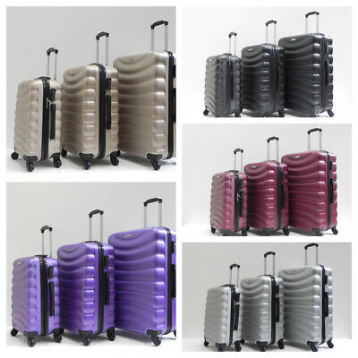 Hard Shell LIGHT WEIGHT 4 WHEEL LUGGAGE TROLLEY Suitcase  20 24 28 33  • 37.99£