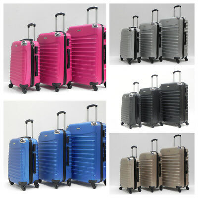 20 24 28  Hard Shell Lightweight  Abs 4 Wheel Luggage Trolley Case • 36.99£