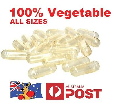 AU7.95 • Buy Size 1 2 3 4 0 00 000  Empty Vegetable Capsules Medicine Pill Vitamins Med Drug