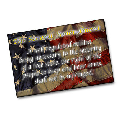 $19.95 • Buy American Flag Second Amendment A Well Regulated Militia Poster - 2 Sizes