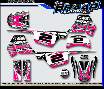 $ CDN72.57 • Buy Yamaha PW-50 Braap Graphix Decals Graphics Kit Pink