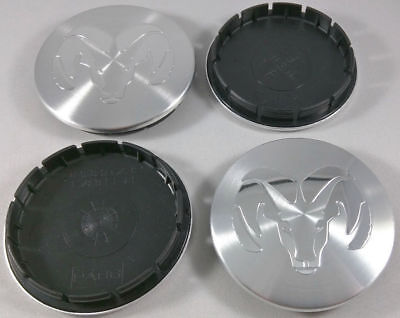 $34.84 • Buy SET Of 4 1996-2004 Dodge RAM 2.5  Machined Silver Center Caps 63mm Hub Caps