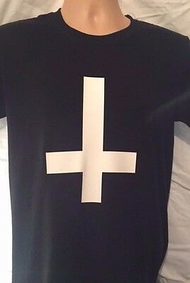 £3.25 • Buy Inverted Cross T Shirt, Goth Rock Cross Of St Peter Antichrist HIPSTER SWAG DOPE
