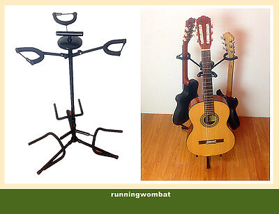 AU25 • Buy Haze GS012 Black Triple Guitar Stand - Reliable Strong And Sturdy