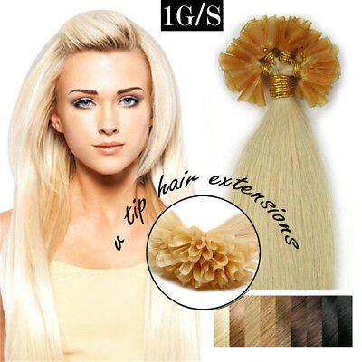 $27.60 • Buy Keratin Fusion U Tip Nail Pre Bonded Real Remy Human Hair Extensions 200S T103