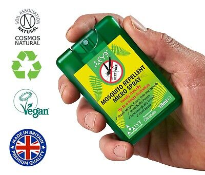 £4.99 • Buy 2 X THEYE Pocket Size Natural Insect /Mosquito Repellent/Midge Spray 18ml