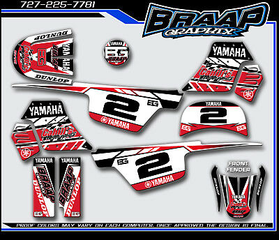 $ CDN72.57 • Buy Yamaha PW-50 Braap Graphix Decals Graphics Kit RED