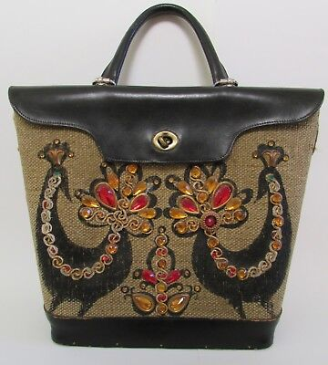 $89.99 • Buy VTG Enid Collins Of Texas  Fine Feathers V  Jeweled Birds Purse Handbag Tote