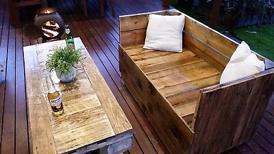 AU749 • Buy Outdoor Setting, Reclaimed Timber