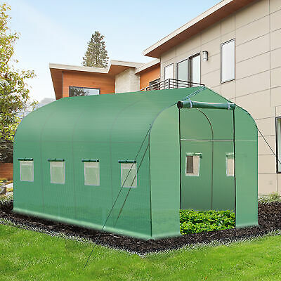 Outsunny 4 X 2 M Walk In Polytunnel Greenhouse Gardening Supplly Large Planting • 69.99£
