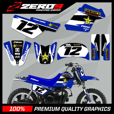 $ CDN76.64 • Buy Yamaha Pw 50 Graphics Kit Peewee Graphics Mini Bike Graphics R/star Blu