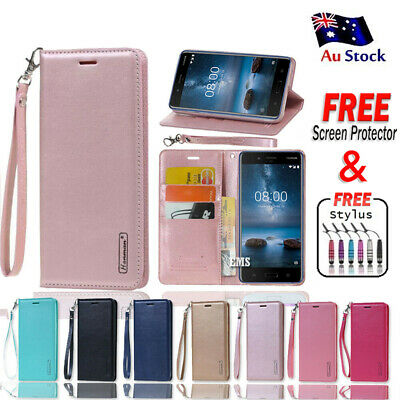 AU11.99 • Buy Hanman Luxury Wallet Leather Flip Case Cover For Nokia 2.1 3.1 6.1 X6 7 Plus 8.1