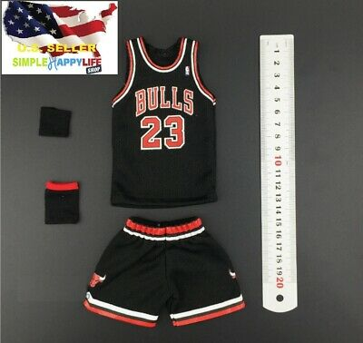 $25.19 • Buy 1/6 Scale Michael Jordan Black Chicago Bulls Jersey 23 For Enterbay Body ❶USA❶